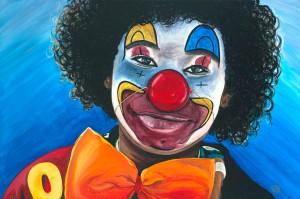 Clowning Around Acrylic on Canvas 24 X 36 Original For Sale $1123.00