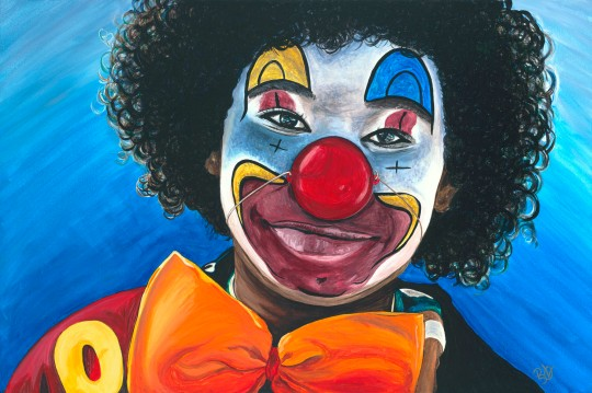 Clowning Around Acrylic on Canvas 24 X 36 Original For Sale $1123.00