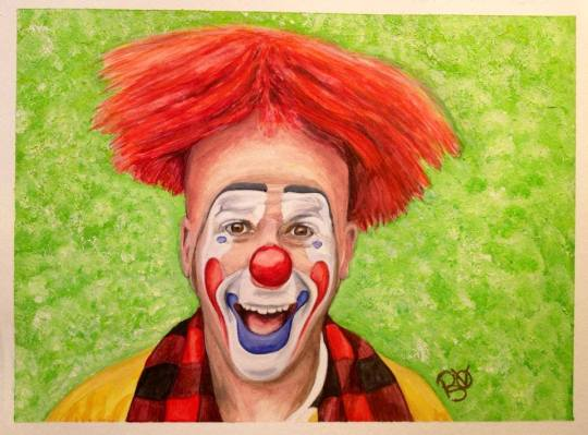 Watercolor Clown #8 Steven Daniel Copeland 9 X 12 on Canson Watercolor 140 lb paper Original -SOLD