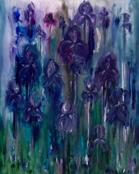 Iris Dream  Acrylic on Canvas  24 X 30 X 1.5  Original For Sale $936.00