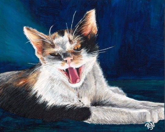 Spooky Kitty  8 X 10  Acrylic on Canvas $150.00