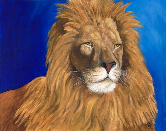 Majestic Lion  Acrylic on canvas 22 X 28  For Sale $800.00