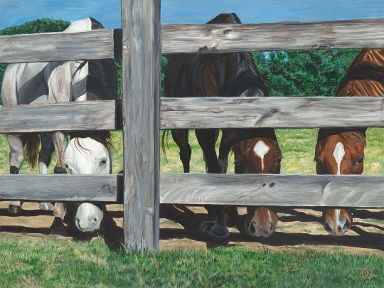 The Grass is always greener... 30 X 40 X 1.5 Acrylic on canvas Original For Sale $1560.00