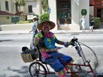 Riding the bike in the parade