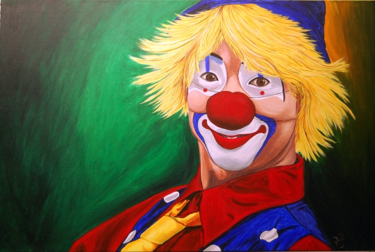 Hello Clown I Finished 7-27-09