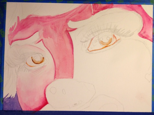 Started laying in the eyes and shading