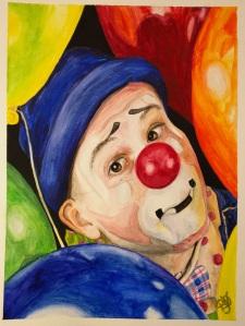 Watercolor Clown #5 Sean Carlock