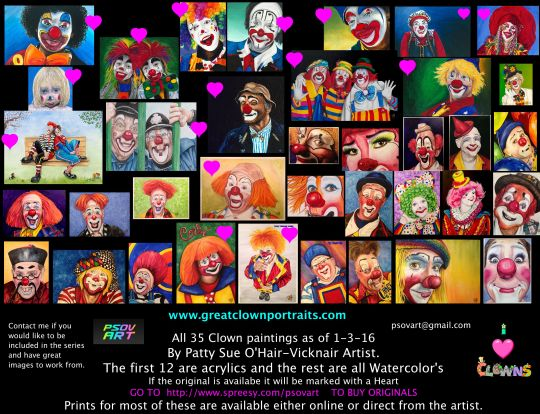 All of my clowns as of 1-3-16