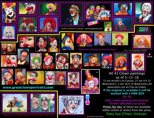 all clowns as of 5-11-16