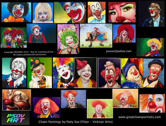 All 25 of my Clowns as of 1-25-14