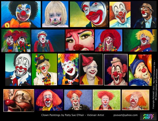 All of Patty's Clowns as of 10-21-13