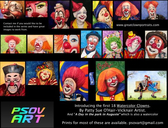 Follow me on Facebook to watch each clown being created. PS-OV-ART