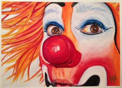 Watercolor Clown #10 Payaso Kiruz Bazo 9 X 12 Canson Watercolor Paper Original Sale Pending....