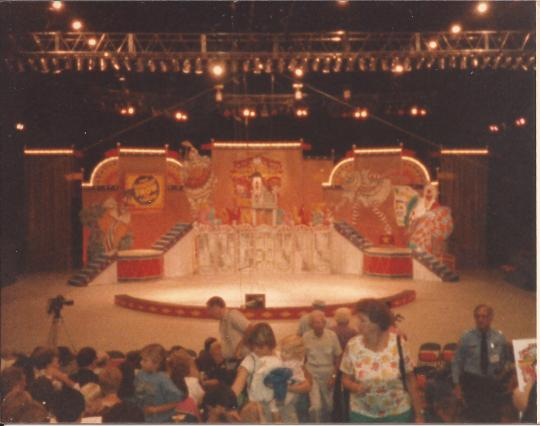 In the 1987 Dick Van Dyke Show this was the amazing set we got to perform on.  trap doors, hidden panels, it was great