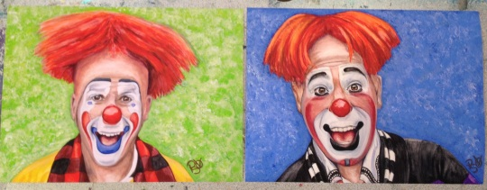 Steve and Ryan  Paintings side by side