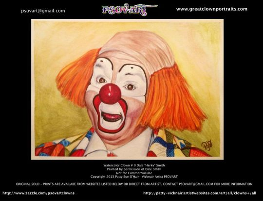 Watercolor Clown # 9