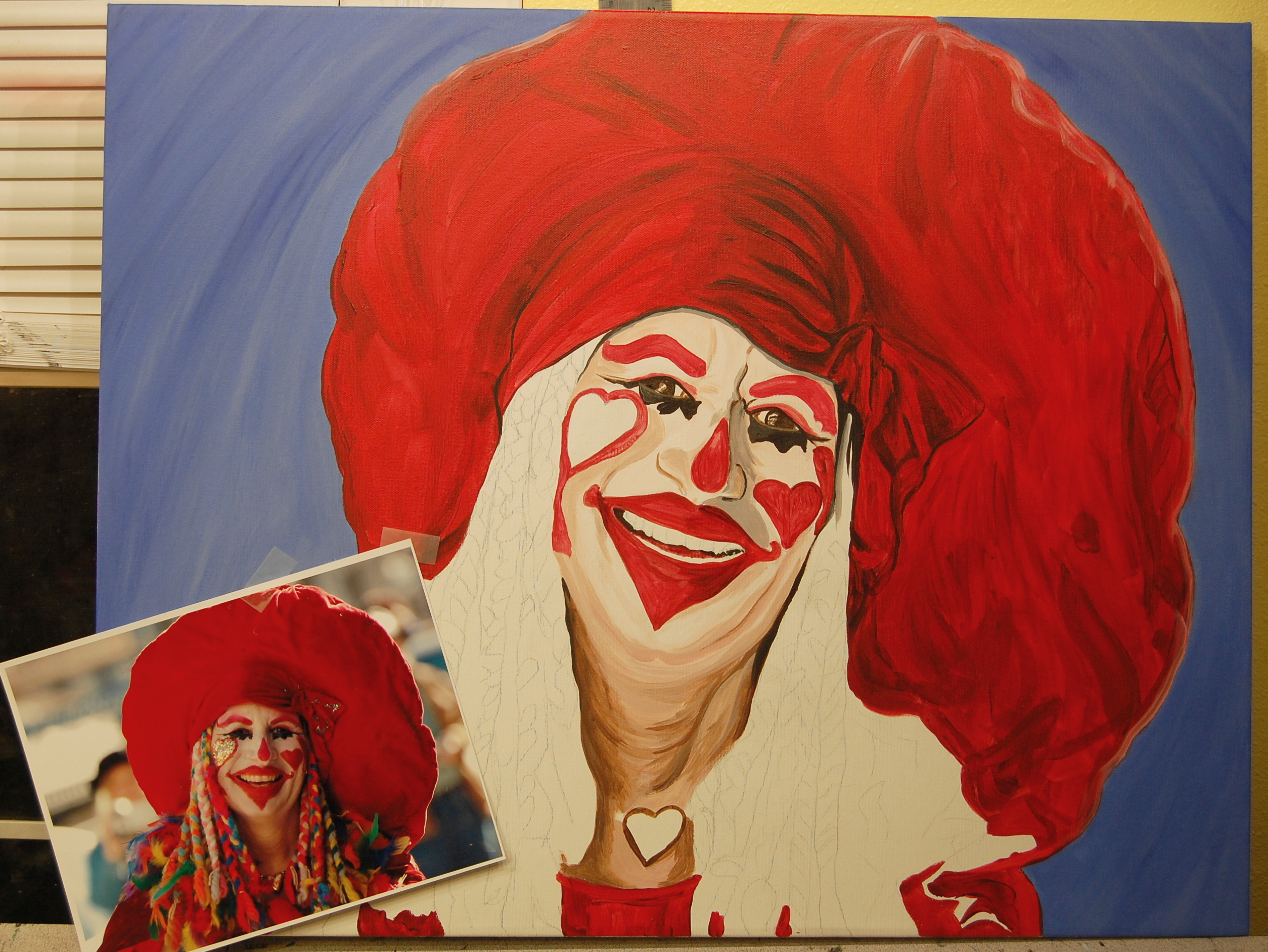 Eureka Springs Clown   The Art of Patty Sue O'Hair - Vicknair