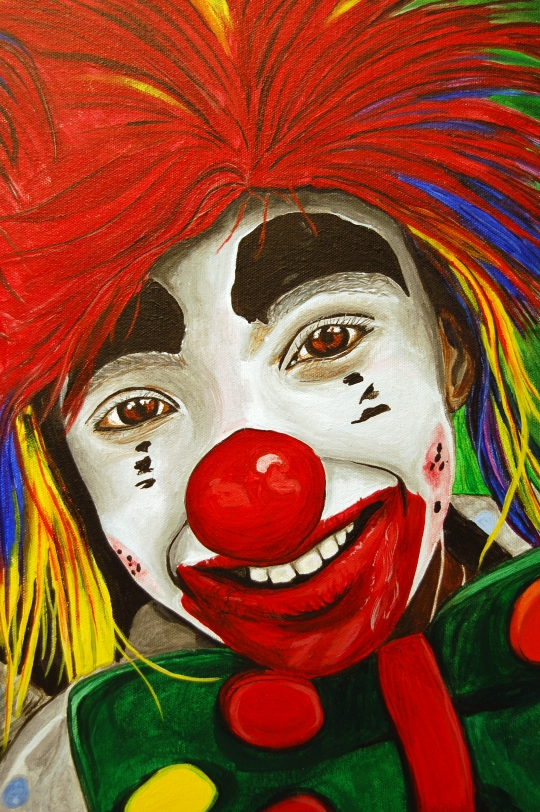 Close Up Kid 2  Kid Clowns Painting