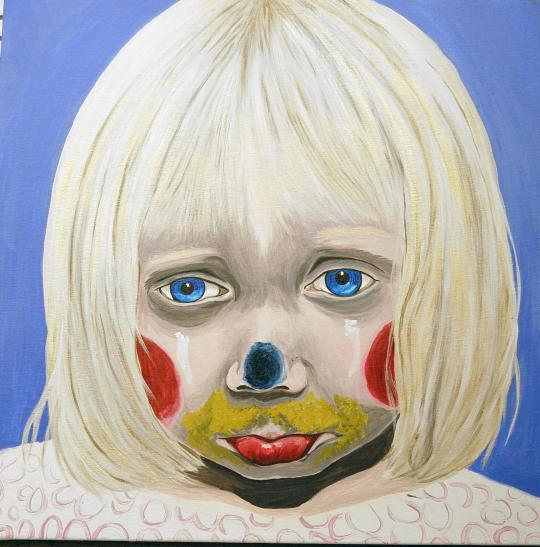 Little Girl Sad Clown C