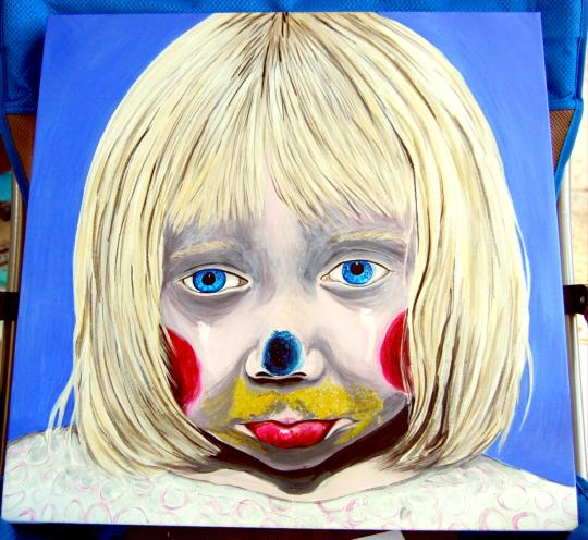 Little Girl Sad Clown D