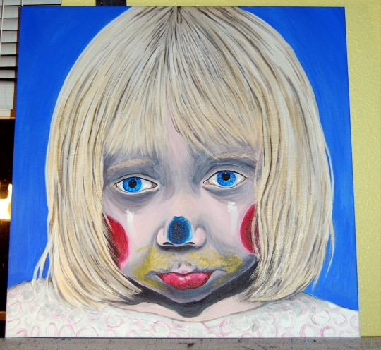 Little Girl Sad Clown E