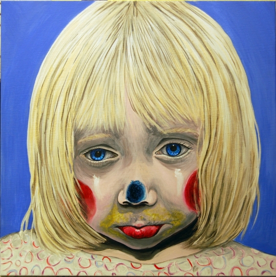 Little Girl Sad Clown F