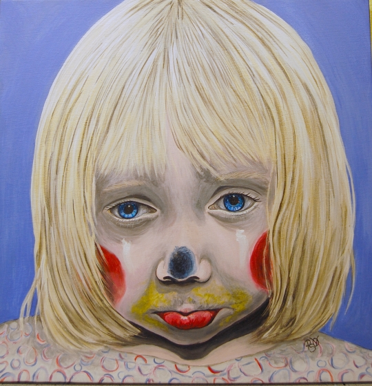 Little Girl Sad Clown G Finished 6-9-10