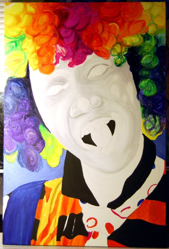 Rainbow Clown 2-10-09 Day 3