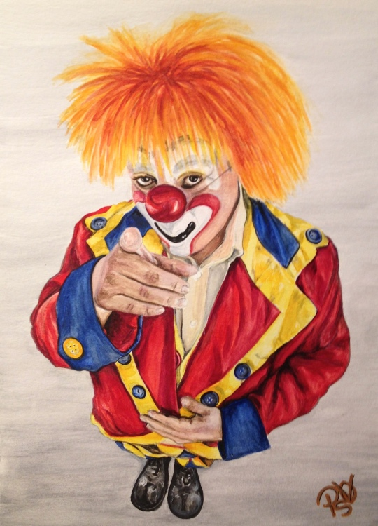 Watercolor Clown 19 Final B