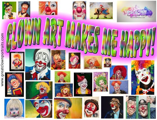 Clown art happy