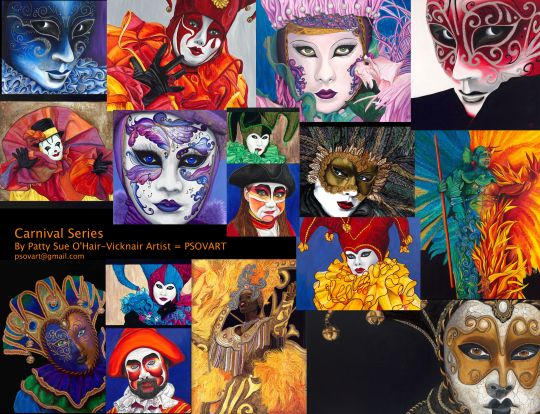 Carnival Masques by Patty Sue O'Hair - Vicknair