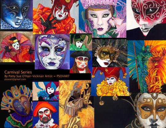 Carnival Masques by Patty Sue O'Hair - Vicknair