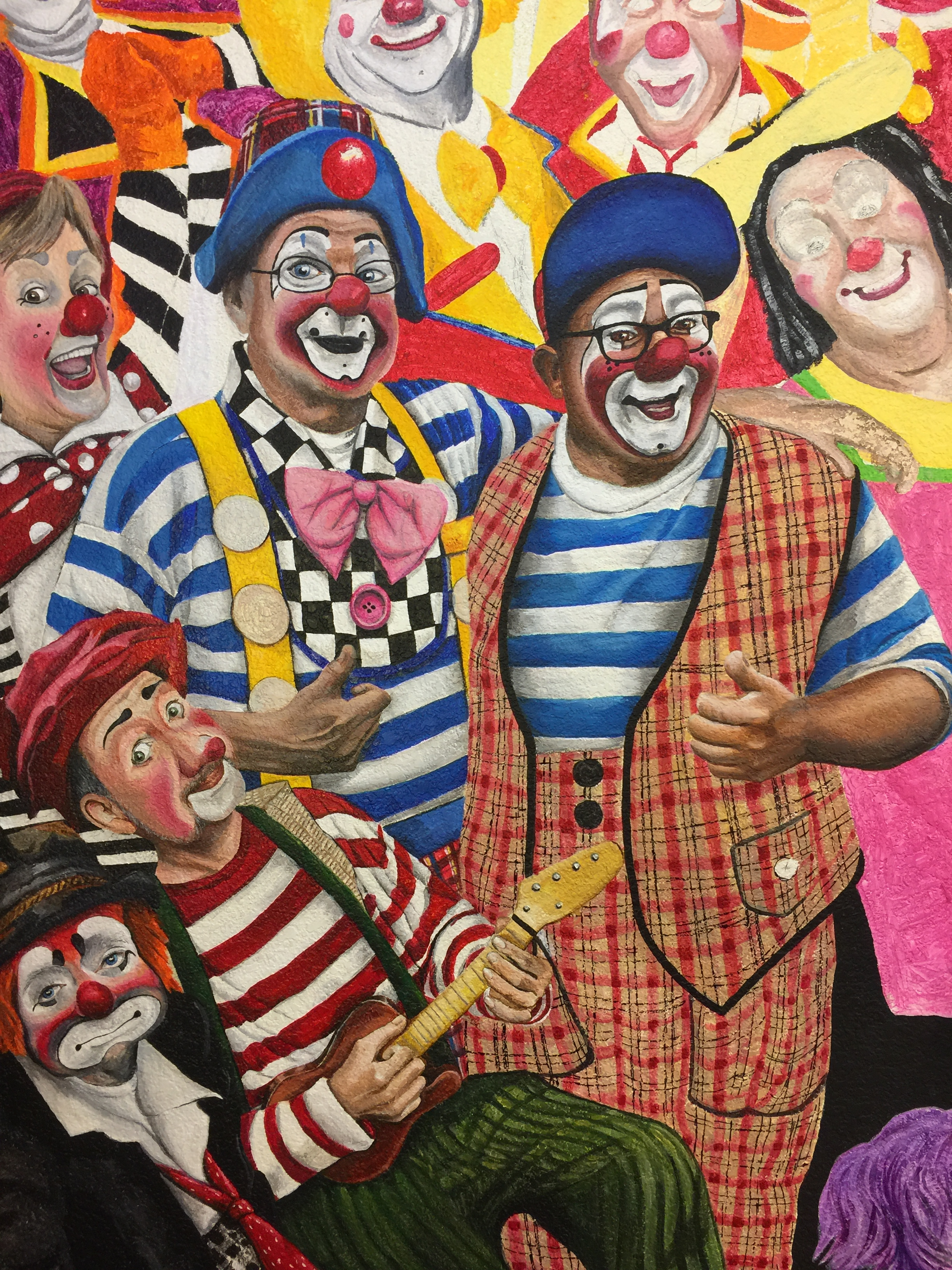 Clown Painting Performance Art